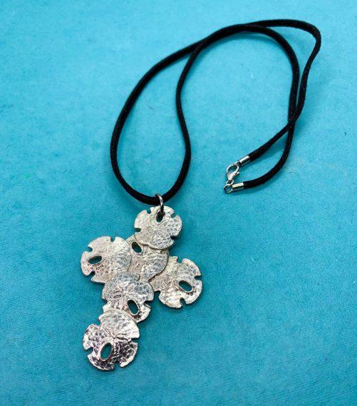 Sand Daollr Cross necklace