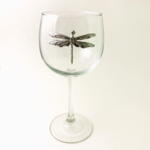 Red Wine Glass Dragonfly