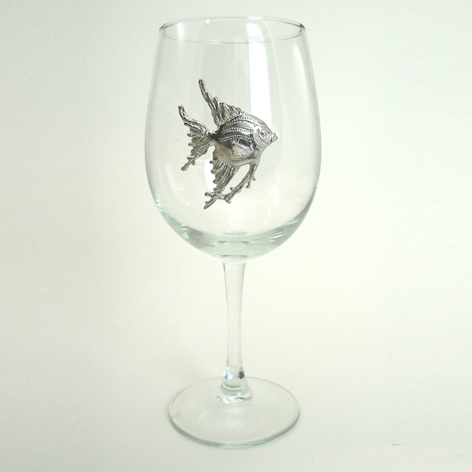 Pewter graphics inc by maurice milleur white wine glass for White wine with fish