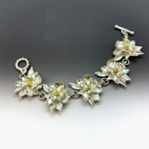 Magnolia 2 tone bracelet