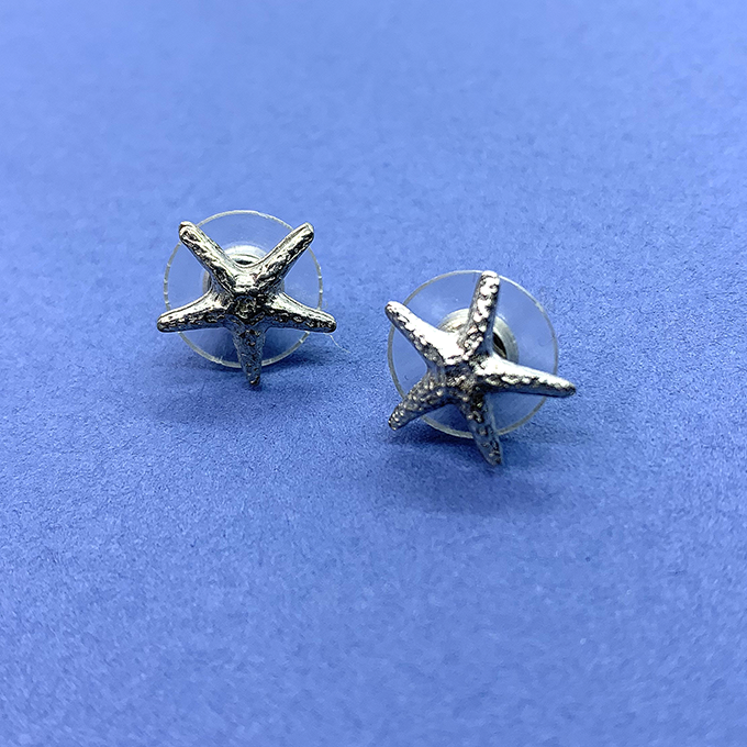 Starfish Tiny Earrings, Post