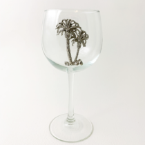Red Wine Glass Palm Tree