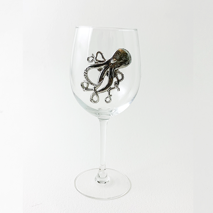 White Wine Glass, Octopus