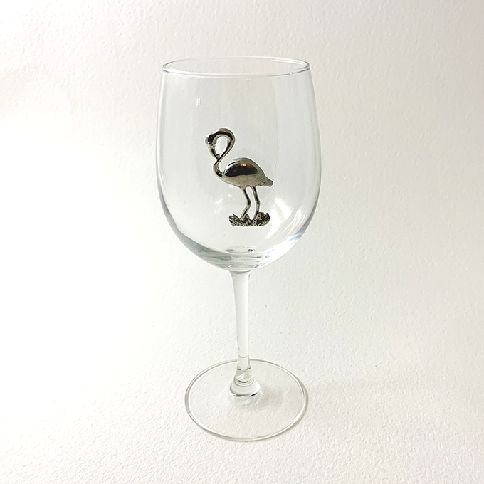 White Wine Glass , Flamingo