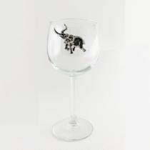 Elephant Red Wine Glass
