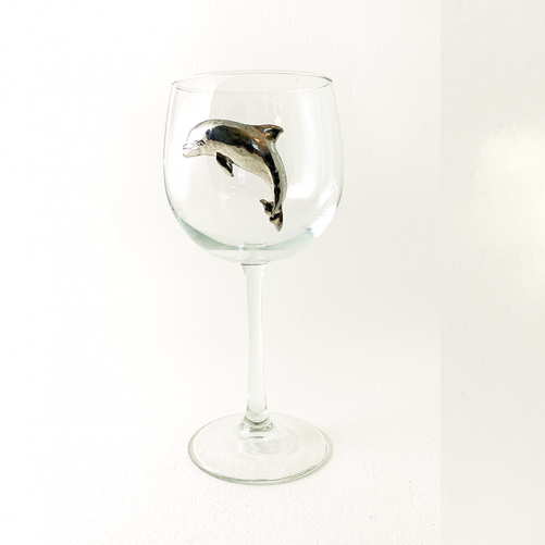 Red Wine Glass dolphin