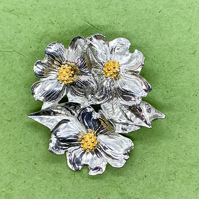 Dogwood Cluster Pin / Pendant